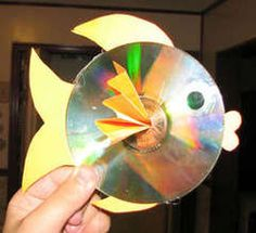 Got lots of old unusable CDs lying around? Make fish!