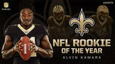 Saints running back Alvin Kamara has been voted the Pepsi NFL Rookie of the Year. This is a fan-voted ROTY award that's sponsored by Pepsi, the same as the Rookie of the Week awards, of which Kamara won 7 including 5 in a row. #Saints ⚜️ WhoDat!!