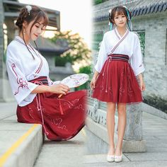 2019 summer high end stage chinese costume clothes traditional hanfu female princess embroidered hanfu chinese folk dance dresse. Japanese Outfits, Japanese Fashion, Korean Fashion, Paris Outfits, Cool Outfits, Casual Outfits, Lolita Fashion, Girl Fashion, Fashion Outfits