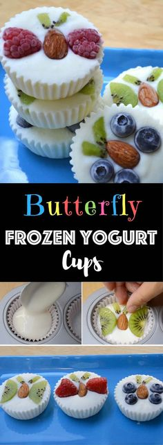 Healthy Fruity Frozen Yogurt Snacks – An easy and refreshing dessert that's good for you. A fun way to enjoy FroYo! These creamy frozen yogurt bites c. Quick Snacks, Healthy Snacks For Kids, Quick Easy Meals, Kid Snacks, Healthy Desserts, Healthy Recipes, Healthy Meals, Healthy Food, Sin Gluten