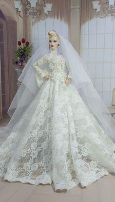 Barbie Bridal, Barbie Wedding Dress, Barbie Gowns, Doll Clothes Barbie, Barbie Dress, Bridal Gowns, Wedding Gowns, Fashion Dolls, Fashion Dresses