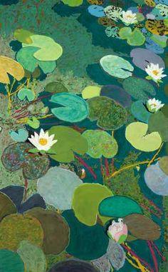 """Lazy Pond"" by Allan P Friedlander- inspiration for Monet's pond"