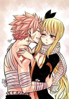 Lucy is wearing Natsu clothes it's look good on her!??