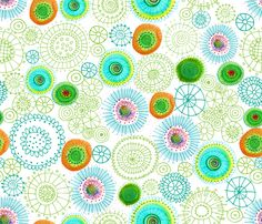 Sea Daisies fabric by snow flower. Love it. A winner of the Fabric8 contest @ Spoonflower.  Love it.