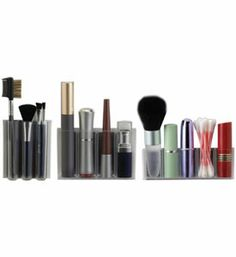 The MagnaPods Adhesive Cosmetic Organizers offer a convenient and versatile system for organizing your various cosmetics.