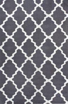 $59.00 Homespun Modern Trelllis Charcoal Rug modern rugs