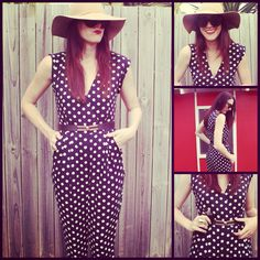 Vintage Retro Style  _ polka dots Ruby Romper Living Doll #jumpsuit #playsuit Living Dolls, Retro Style, Playsuit, Retro Fashion, Retro Vintage, Polka Dots, Jumpsuit, Bodycon Dress, Rompers