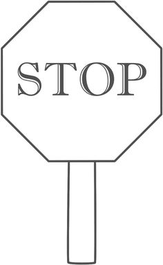 Printable Stop Sign Template from PrintableTreats.com