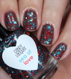 Candy Lacquer, Sea Of Love (over OPI Wooden Shoe Like To Know?), BN, SOLD