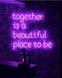 Love always neon aesthetic, quote aesthetic, fun Violet Aesthetic, Dark Purple Aesthetic, Lavender Aesthetic, Aesthetic Colors, Aesthetic Collage, Aesthetic Grunge, Aesthetic Vintage, Aesthetic Quote, Aesthetic Drawings