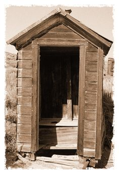 Old Outhouse in Bodie Ghost Town California by George Oze Old Buildings, Abandoned Buildings, Abandoned Places, Abandoned Homes, Ghost Town California, California History, Outhouse Bathroom, Old Barns, Ghost Towns