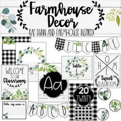 Farmhouse Classroom Decor Bundle by Spoonful of Confetti and Creativity