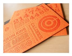 gorgeous orange on orange letterpress cards Visit Cards, Letter Press, Orange Paper, Orange Design, Layout Template, Buisness, Graphic Design Typography, Cool Cards, Personal Branding