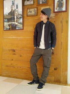 AVIREX 町田|takuyaさんのミリタリージャケット「AVIREX(アヴィレックス) メンズ デックジャケット(AVIREX|アヴィレックス)」を使ったコーディネート