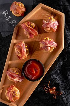 halloween party food wrapped in bits of bacon these ritz hot dog mummies make for a satisfying snack on par with your party dont forget to down - Evite Halloween Party