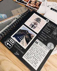 Travel Scrapbook Videos Black -You can find Travel scrapbook and more on our Travel Scrapbook Videos Black - Photo Album Scrapbooking, Scrapbook Albums, Diy Scrapbook, Friend Scrapbook, Couple Scrapbook, Bullet Journal Ideas Pages, Bullet Journal Inspiration, Travel Journal Scrapbook, Bookmarks Kids