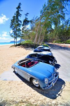 ALOHA FRIDAY - Porsche 356'rs  Paradise @Bellows Beach Park Oahu, Hawaii