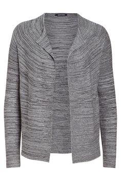 Moderner Open-Front Cardigan von MORE & MORE mit lockerer, leicht glockiger Silhouette. Material: 60% Baumwolle, 40% Viskose...