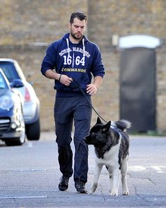 Henry Cavill Walks His Dog in London