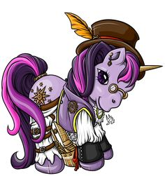 Steampunk My Little Pony Finished by Roguelucifer.deviantart.com