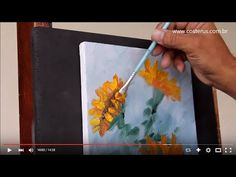 Como Pintar Margaridas em Tela - Passo a Passo | Professor Costerus - YouTube