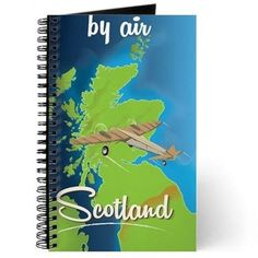 By Air To Scotland travel poster Journal