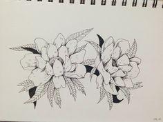 펜 일러스트 _ 꽃