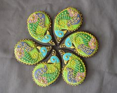Montreal Confections: Henna Peacock Cookie Platter Tutorial