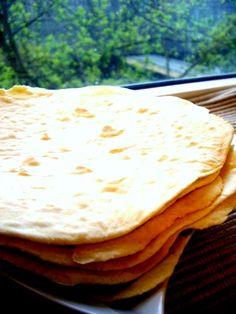 Soft Flour Tortillas Recipe       2 cups all-purpose flour     1.5 teaspoons baking powder     1 teaspoon salt     2 teaspoons vegetable oil     3/4 cup warm/hot milk