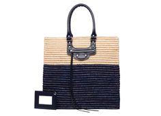 BALENCIAGA Panier Shopping Basket M Blue $ 1,065 one of our Top Ten Women's Beach Bags #balenciaga