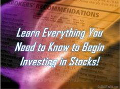 Guide to Buying Stocks. Understand #stocks and learn tips for #investing in stocks - http://oddballwealth.com/investment-basics-investing-in-stocks/