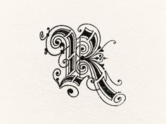 trendgraphy:  Letter R by Steve Wolf Just to show how eccentric lettering can get. You wouldn't use this often but maybe for a dropcap. I like this though because of all the lines inside and outside and lining the letter.