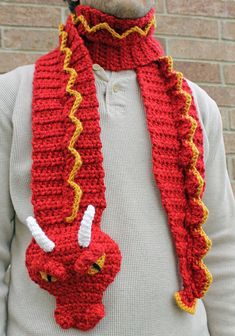 Ravelry: Dragon Scarf by Joni Memmott / BriAbby just a picture no pattern