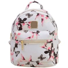 Fashion Floral Printing Women Leather Backpack School Bags for Teenage Girls Lady Travel Small Backpacks Mochila Feminina Floral Backpack, Small Backpack, Cute Backpacks For Traveling, Girls Backpacks For School, Fashion Bags, Fashion Backpack, Teen Fashion, Vintage Flower Prints, Bags Travel