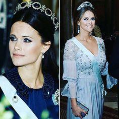 Princess Madeleine and Princess Sofia of Sweden tonight in Stockholm.  Princesa Madeleine e Princesa Sofia da Suécia hoje a noite em Estocolmo.  #PrincessMadeleine #PrinsessanMadeleine #PrincessSofia #PrinsessanSofia #SwedishRoyalFamily #KungaHuset