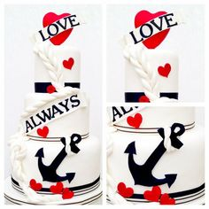 Love is my anchor cake, adorable!! I think this should be your cake @Amy Lyons Wickless
