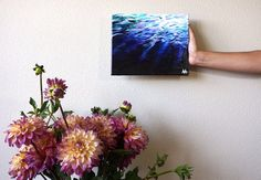 Under Water Original Acrylic Painting on Canvas by AprilNicoleArt