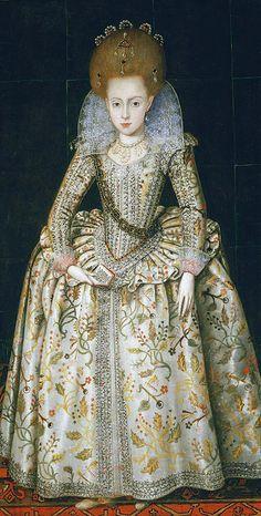 Princess Elizabeth of England, later Queen of Bohemia by Robert Peake, c. 1606