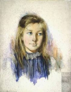 The girl with flaxen hair - Hodgkins, Frances 1893 Watercolor Portraits, Watercolor Art, Painting Portraits, Alice Blue, Contemporary Artwork, Female Art, New Art, Art History, Landscape Paintings