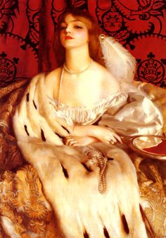 'Vanity' (1919) by Frank Cadogan Cowper. (Click to view 1000×1432)