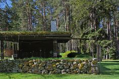 Alvar Aalto's Villa Mairea in Noormarkku, Finland, built between 1937 and 1939 as a rural retreat