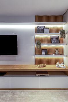 Living Room Partition Design, Living Room Tv Unit Designs, Living Room Wall Units, Master Bedroom Interior, Home Living Room, Interior Design Living Room, Living Room Decor, Modern Tv Room, Home Room Design