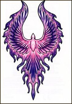 Purple Wings Temporaray Tattoo by Tattoo Fun. $4.95. This amazing purple and pink wings tattoo is bold and interesting. The colors would look great on any skintone. This 2x4 temporary tattoo would look great on an shoulder or even a lower back.