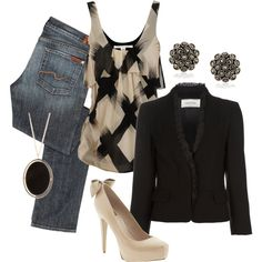 dressy casual, created by bradierenee on Polyvore