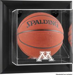 Minnesota Golden Gophers Framed Wall Mountable Basketball Display Case