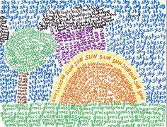 Word Pointillism...fun art + word idea