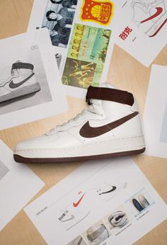 using suede and leather in one Air Force One design