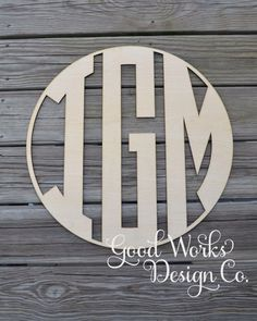 "24"" Wooden Monogram - Unpainted Natural Circle Monogram - Wedding Monogram - Boys Room - Nursery - Home Decor - Wall Decor - Wall Monogram by GoodWorksDesignCo on Etsy https://www.etsy.com/listing/236876193/24-wooden-monogram-unpainted-natural"