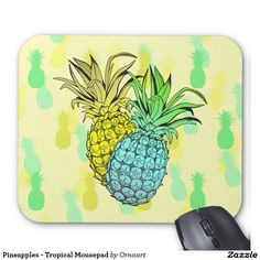 Pineapples - Tropical Mousepad