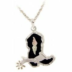 Black Hills Gold Necklace - Western Boot $95.75